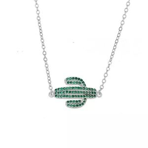 New crystal cactus necklace